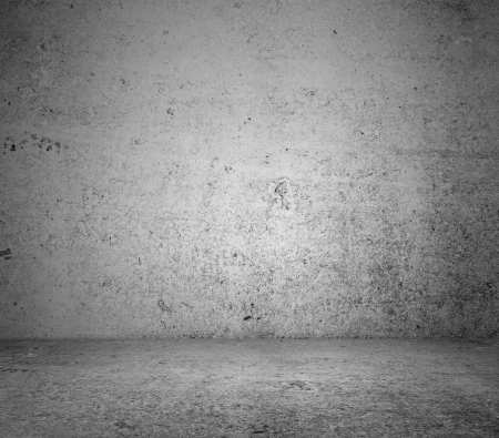 gray concrete  floor and wall Stock Photo - 14276754