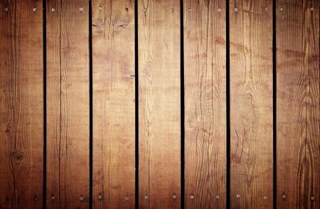 installed: Brown boards installed screws, backgrounds