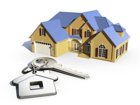 house and house shaped keychain photo