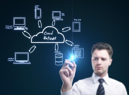 businessman draw cloud computing diagram Stock Photo - 14389947