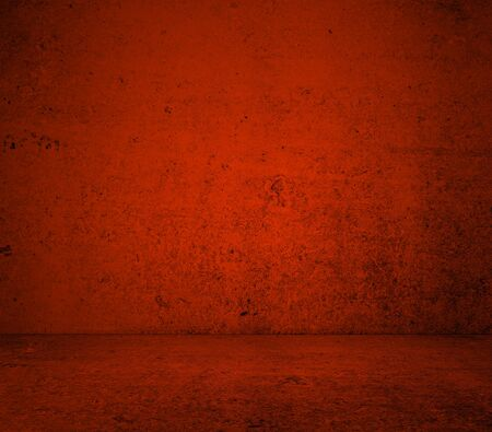 background abstracts: High resolution red concrete wall and floor Stock Photo