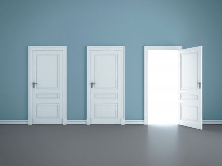 three open doors in room Stock Photo - 14709983