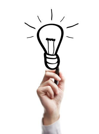 hand drawing lamp on a white background Stock Photo - 14923324