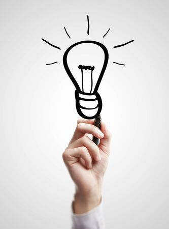 hand drawing lamp on a white background Stock Photo - 14924130
