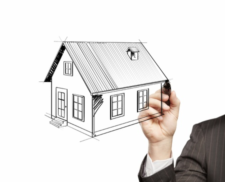hand drawing home on a white background Stock Photo - 14924425