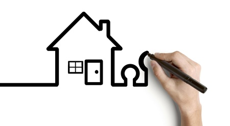 hand drawing abstract house on a white background Stock Photo - 14924181