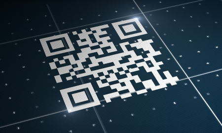 upcode: High resolution white qr code