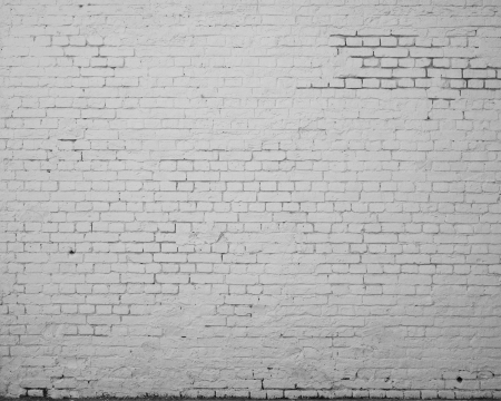 High resolution white brick wall photo