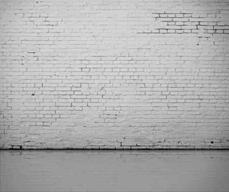brick floor: alta resoluci�n blanco muro de ladrillo y suelo