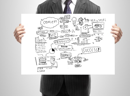 businessman holding plan business strategy Stock Photo - 15478585