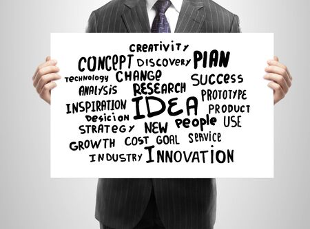 businessman holding plan business strategy Stock Photo - 15478590
