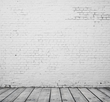 white brick: High resolution white brick room