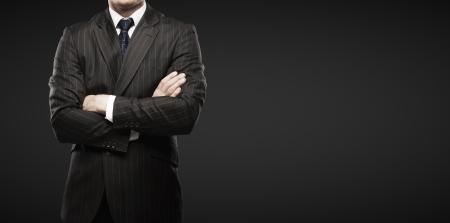 man on a black background photo