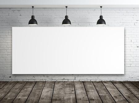 brick floor: cartel en la habitaci�n con la l�mpara de techo
