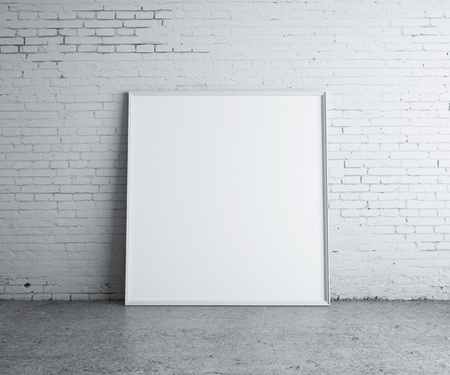 blank picture in concrete room photo