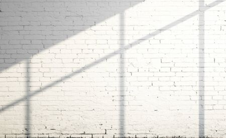 sunligh: white brick wall and sunligh