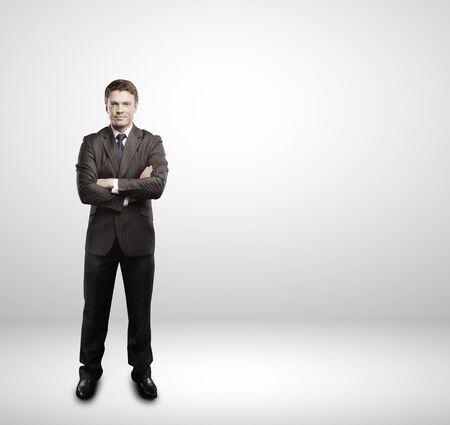 businessman full length isolated on white Stock Photo - 16119346