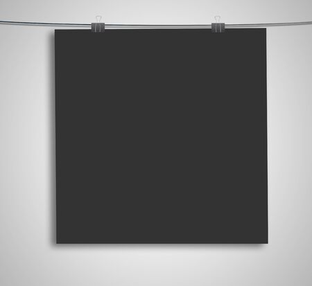 black poster on a rope Stock Photo - 16189005