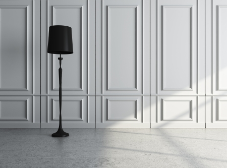 floor lamp: luxury interior with lamp
