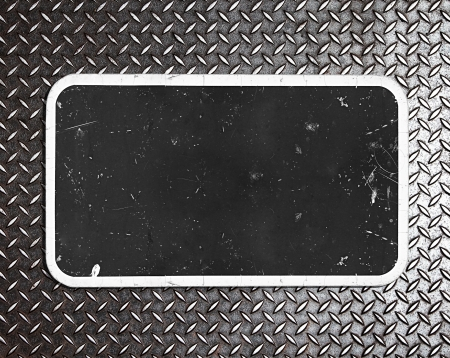 metal table on metal background photo