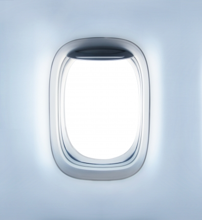 high definition empty aircraft's porthole photo