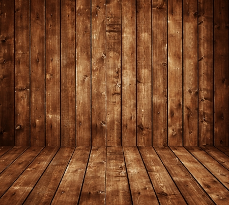 High resolution brown wooden room photo