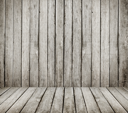 High resolution grunge wooden room Stock Photo - 16293096