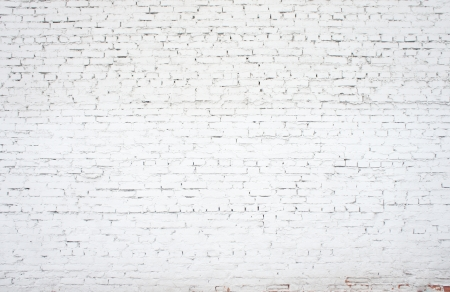 surrounding wall: white old brickwork closeup, backgrounds Stock Photo