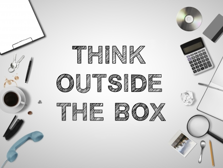 buisness things and think outside the box photo