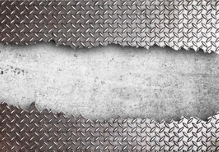 강철: 고화질 찢어진 금속 질감 스톡 사진