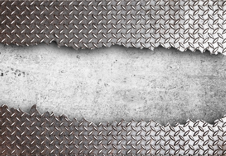 metal plate: high definition  torn metal texture Stock Photo