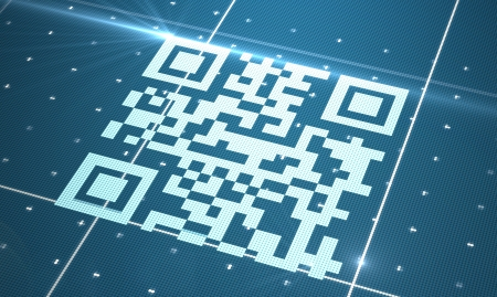 High resolution white qr code photo