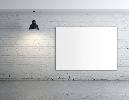 plafond: white poster in room with ceiling lamp