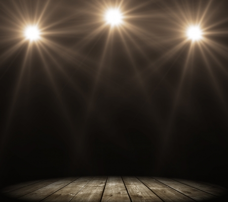 stage spot lighting over dark background Stock Photo - 16343209