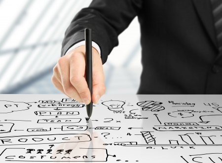 hand drawing plan strategy success Stock Photo - 16698480