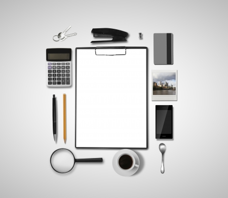buisness: buisness objects and scheme business strategy Stock Photo