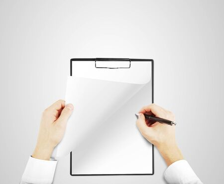 hands holding notepad and drawing Stock Photo - 16698192