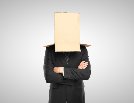 man with a box on head Stock Photo - 16700156