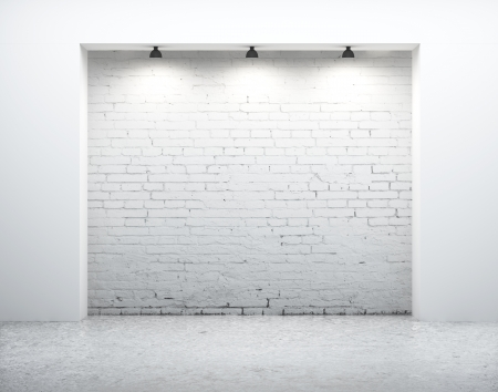modern wall in white room Stock Photo - 16700196