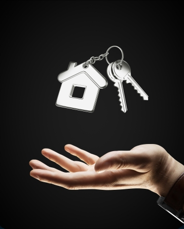 keychain: hand and keychain with key