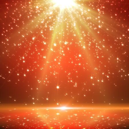 feliz: sfondo Natale con le stelle scintillanti e raggi Archivio Fotografico