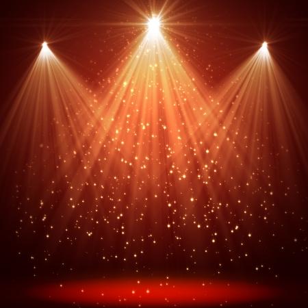Światła: Boże Narodzenie tła z gwiazd błyszczących i promieni Zdjęcie Seryjne