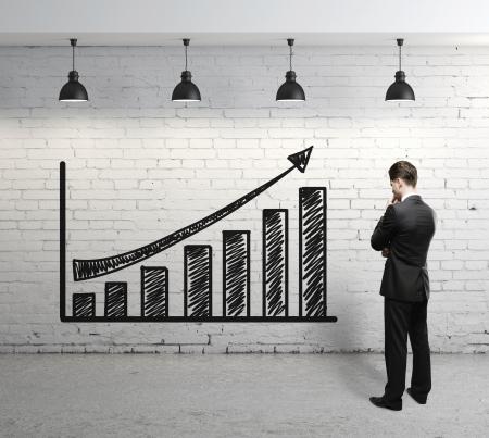 businessman looking at scheme profit
