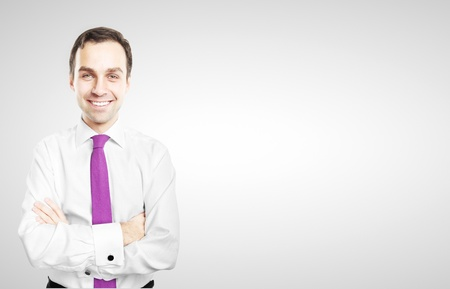 smiling businessman on white background Stock Photo - 16763799