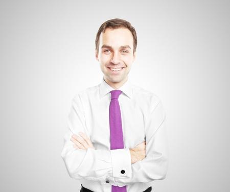 smiling men on white background Stock Photo - 16763800