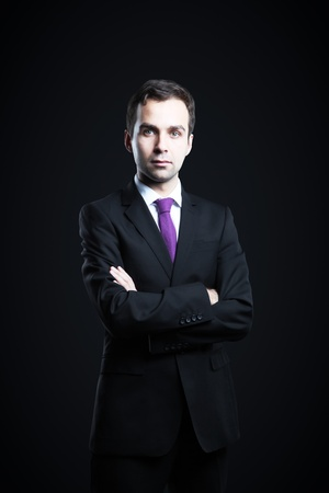 businessman on a black background Stock Photo - 16763783