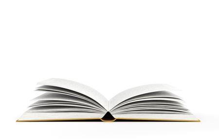 offen: offenes Buch auf weißem Hintergrund