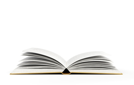 book: open book on white background