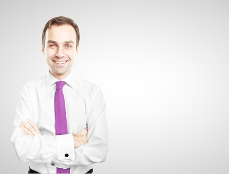 smiling businessman on white background Stock Photo - 16852131