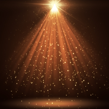 bokeh: great background with shining stars and rays